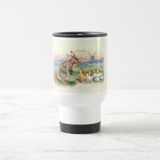 Vintage Easter Rabbit with Chicks in Holland Travel Mug