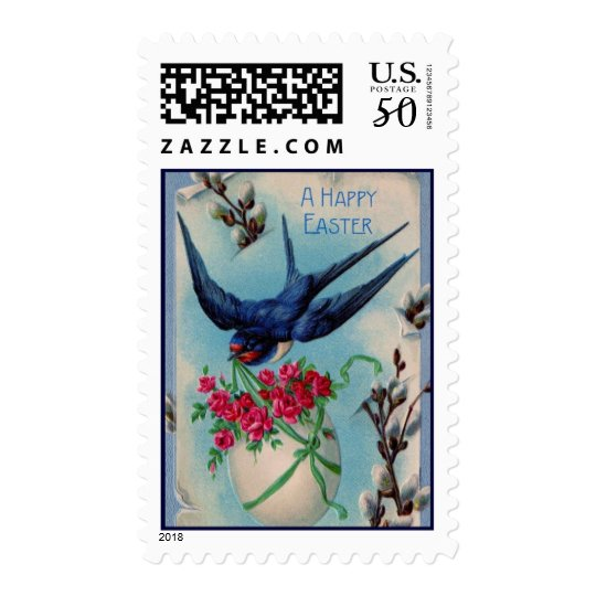 Vintage Easter Sparrow Postage
