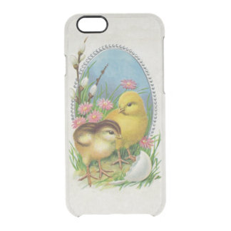 Vintage Easter Spring Baby Chicks Flowers Clear iPhone 6/6S Case