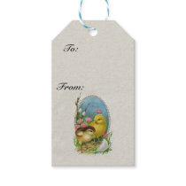 Vintage Easter Spring Baby Chicks Flowers Gift Tags