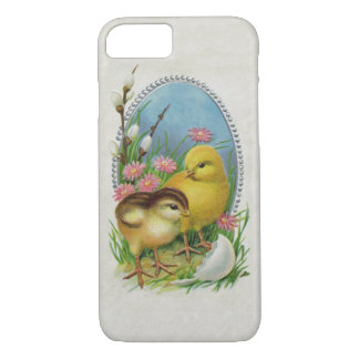 Vintage Easter Spring Baby Chicks Flowers iPhone 7 Case