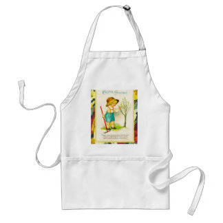 Vintage Easter, Spring buds on the tree Adult Apron