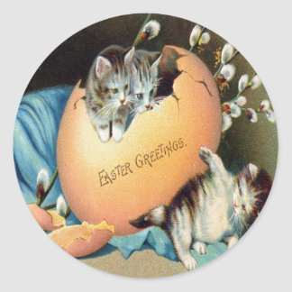 Vintage Easter Classic Round Sticker