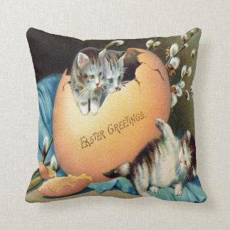 Vintage Easter Throw Pillow