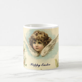 Vintage Easter, Victorian Angel with Lily Flowers Coffee Mug