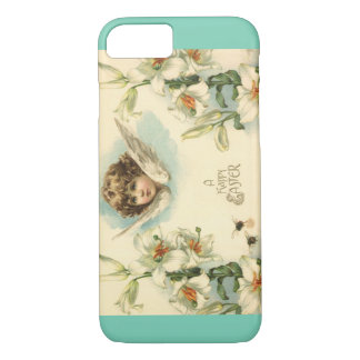 Vintage Easter, Victorian Angel with Lily Flowers iPhone 7 Case