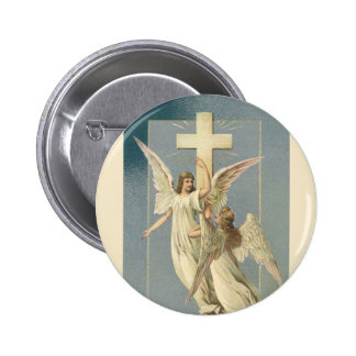 Vintage Easter, Victorian Angels with a Cross Pin