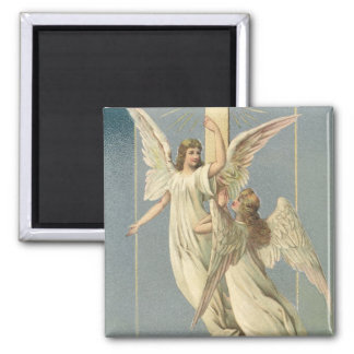 Vintage Easter, Victorian Angels with a Cross Magnet