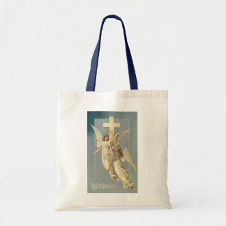 Vintage Easter, Victorian Angels with a Cross Tote Bag