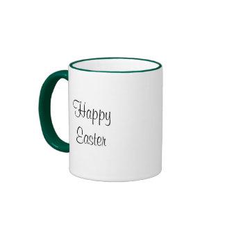 Vintage Easter, Victorian Bunnies in an Egg Ringer Mug