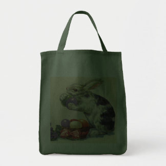 Vintage Easter, Victorian Bunny with Eggs Canvas Bag