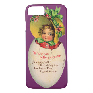 Vintage Easter, Victorian Child in an Egg iPhone 7 Case