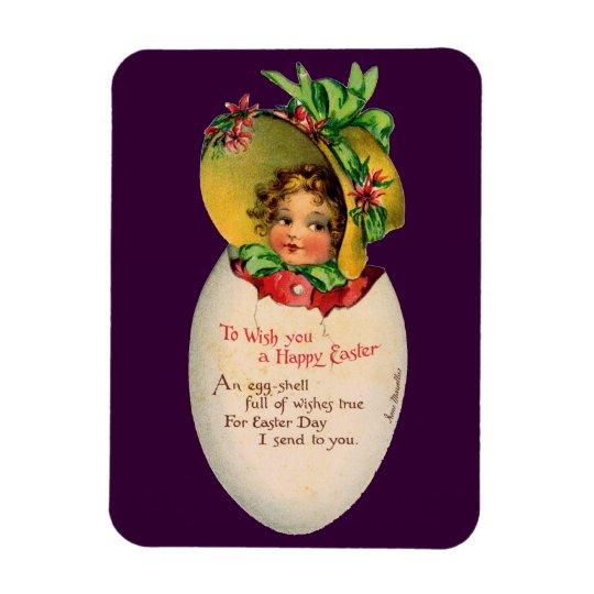 Vintage Easter, Victorian Child in an Egg Magnet