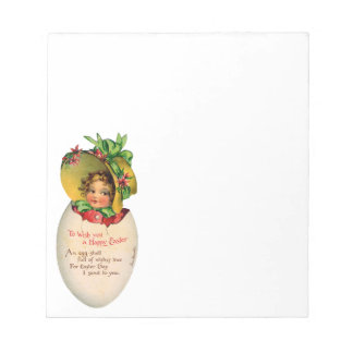 Vintage Easter, Victorian Child in an Egg Notepad