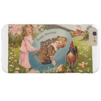 Vintage Easter Victorian Girl & Boy Barely There iPhone 6 Plus Case
