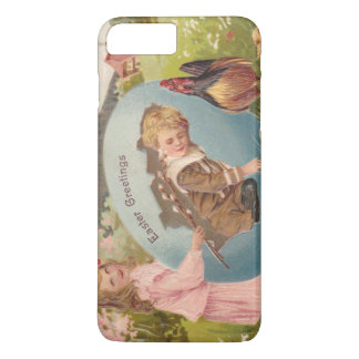Vintage Easter Victorian Girl & Boy iPhone 7 Plus Case