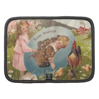 Vintage Easter Victorian Girl & Boy Organizer