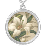 Vintage Easter, Victorian Lily Flowers in Bloom Necklaces