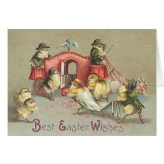 Vintage Easter Wedding - Carriage Card