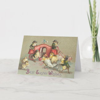 Vintage Easter Wedding - Carriage Holiday Card