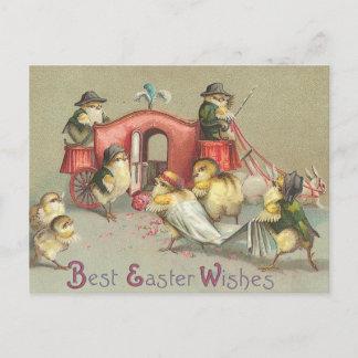 Vintage Easter Wedding - Carriage Holiday Postcard