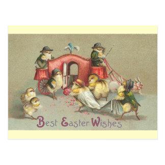 Vintage Easter Wedding - Carriage Postcard