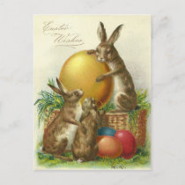 Vintage Easter Wishes 1906 Holiday Postcard