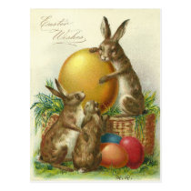 Vintage Easter Wishes 1906 Postcard