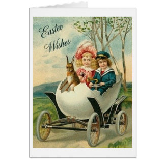 Vintage Easter Wishes!  Victorian Easter Card