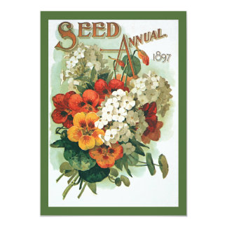 Vintage Eastman's Seed Catalog Cover Art, 1897 Card