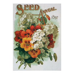Vintage Eastman's Seed Catalog Cover Art, 1897 Poster