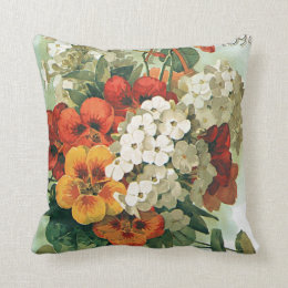 Vintage Eastman's Seed Catalog Cover Art, 1897 Throw Pillow