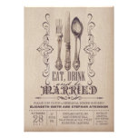 Vintage EAT DRINK AND BE MARRIED rehearsal dinner Custom Announcement