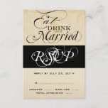 Vintage Eat, Drink, and Be Married RSVP Cards