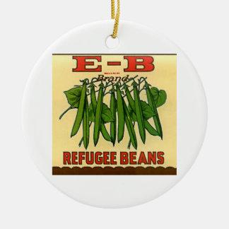Vintage EB Brand Refugee Green Beans Christmas Ornament