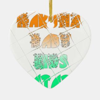 Vintage ECO Hakuna Matata Hakunamatata Gift stars. Ceramic Ornament