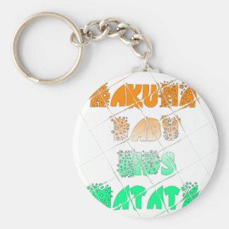 Vintage ECO Hakuna Matata Hakunamatata Gift stars. Keychain