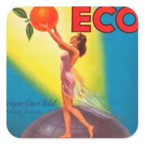 Vintage Eco Orange Label