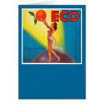 Vintage Eco Orange Label Card