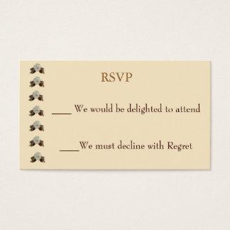 Fl Wedding Rsvp Business Cards Templates Zazzle