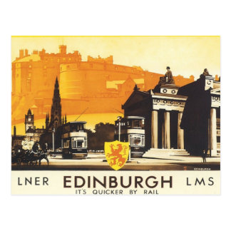 Vintage Edimburgo LNER Tarjeta Postal