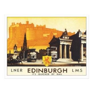Vintage Edimburgo LNER Tarjetas Postales