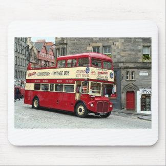 Vintage Edinburgh Tour Bus, Scotland, UK Mousepads