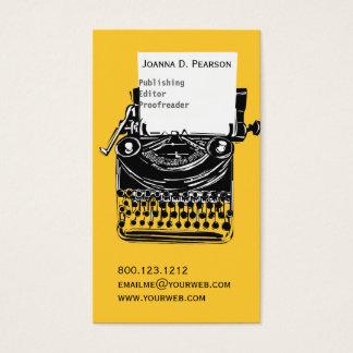 Vintage  Editor Retro Cool Typewriter Business Card