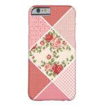 Vintage, edredón del Victorian, rosa, subió, Funda De iPhone 6 Slim