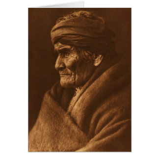 Vintage Edward S Curtis Geronimo Photograph Card