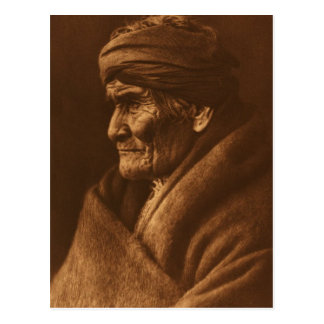 Vintage Edward S Curtis Geronimo Photograph Postcard