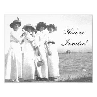 Vintage Edwardian Beach Party Card