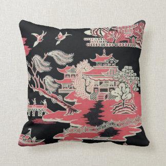 Vintage Edwardian Chinoiserie Pillow Throw
