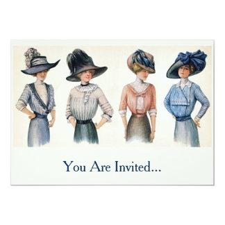 Vintage Edwardian Fashion from 1910 Card